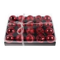Globuri Craciun, rosii, diametru 6 cm, set 20 bucati, SY18CD-027