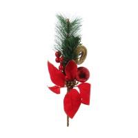 Decoratiune Craciun, tip crenguta de brad, rosu + verde, 30 cm, SYCW18A-060