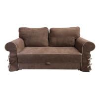 Canapea extensibila 2 locuri Jolie, cu lada, maro + bej, 185 x 107 x 100 cm, 1C