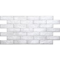 Panou decorativ Old Grey Brick, PVC, gri, 97.1 x 48.9 cm, 0.4 mm