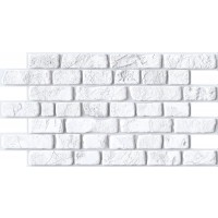 Panou decorativ Brick Retro white, PVC, alb, 95.1 x 49.5 cm, 0.4 mm