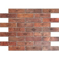 Panou decorativ Brick Top Gun, PVC, maro, 89.6 x 64.2 cm, 0.6 mm