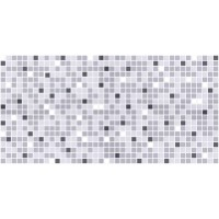 Panou decorativ Mosaic Grey Mix, PVC, gri + alb, 95.7 x 48 cm, 0.4 mm