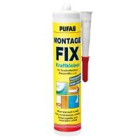 Adeziv pentru fixare panouri decorative, interior / exterior, Pufas Montage Fix, 400 g