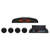 Senzori de parcare auto PNI Escort P04 A, cu 4 receptori, display LED, avertizare sonora + luminoasa + metrica