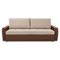 Canapea extensibila 3 locuri Monza, cu lada, bej + maro, 225 x 95 x 75 cm, 2C
