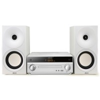 Sistem audio Akai AM-301W, 40 W, CD / MP3 player, radio FM, Bluetooth, USB, Aux in, telecomanda, alb