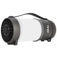 Boxa portabila activa Akai ABTS-40LIG, Bluetooth, 10 W, USB, Aux in 3.5 mm, radio FM, negru + alb