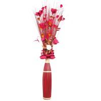 Flori uscate, 118 AR 38500, 150 cm, maro + rosu