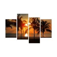 Tablou PT2936, 4 piese, peisaj, canvas, 2 piese - 30 x 50 cm + 2 piese - 30 x 70 cm
