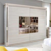 Dulap dormitor Onix L235, ulm deschis, 2 usi glisante, cu oglinda, 235.5 x 62 x 213 cm, 11C