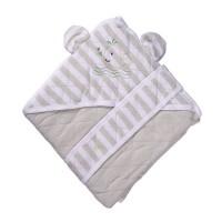 Patura confort Cream, pentru bebelusi, cu capison si cordon, 90 x 90 cm, bumbac, crem