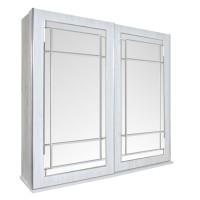 Dulap dormitor Opera L250/H230, crem, 2 usi glisante, cu oglinda, 250.5 x 62 x 230 cm, 10C