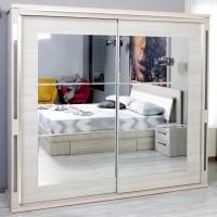 Dulap dormitor Allegro L235, ulm deschis, 2 usi glisante, cu oglinda, 235.5 x 62 x 213 cm, 11C