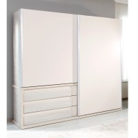 Dulap dormitor Loft L231/H212, crem + bej, 2 usi glisante, 231 x 62 x 212 cm, 9C