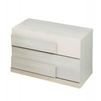Noptiera Loft P2, cu 2 sertare, crem, 51 x 46 x 47 cm, 2C