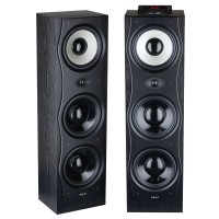 Sistem audio Akai SS047A-381, 2 boxe active, 160 W, Bluetooth, USB, radio FM, intrare microfon, functie karaoke, negru, telecomanda