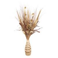 Aranjament flori uscate, 218 AR 38816, 100 cm, natural + maro