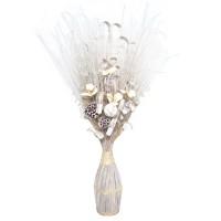 Aranjament flori uscate, 218 AR 8243, 100 cm, alb