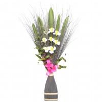 Aranjament flori uscate, 218 AR 8244, 100 cm, gri