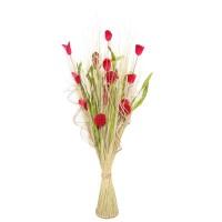 Aranjament flori uscate, 218 AR 8264, 100 cm, natural + verde