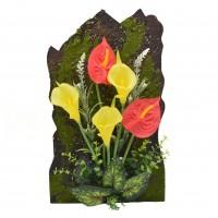Floare artificiala D1098, diverse culori, 40 x 24 xm