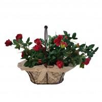 Flori artificiale TY1702001-2, trandafiri rosii, 40 x 23 x 32 cm