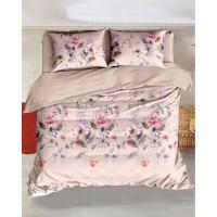 Lenjerie de pat, Caressa Carrol 75A2126, 2 persoane, poliester 100%, 6 piese, cu imprimeu floral