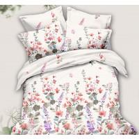 Lenjerie de pat, 2 persoane, Caressa 78391, poliester 100%, 6 piese, multicolor