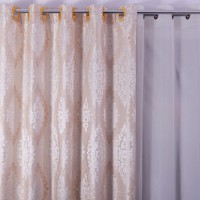 Draperie Atria, SX180105A, poliester, ivoriu, semiopac, H 280 cm