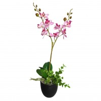 Floare artificiala JWP357, orhidee roz, 35 cm