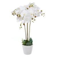 Floare artificiala JWP363, orhidee alba, 75 cm