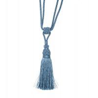 Ciucure poliester 187-DB03530R-AB, 18-36-50 cm, albastru