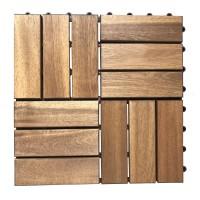 Dala lemn OT02 DB, exterior, 30 x 30 x 2.4 cm