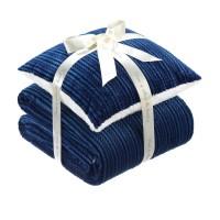 Set patura si perna Dormeo Warm Hug, 200 x 200 cm, albastru