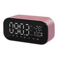 Radio FM Akai ABTS-S2, cu ceas, 6 W, Bluetooth, USB, Aux in, TF, functie alarma + temperatura