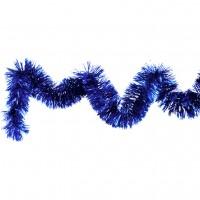 Beteala brad Craciun, albastra, D 10 cm, 2 m