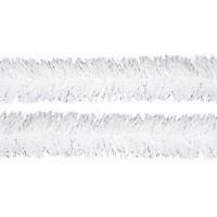 Beteala brad Craciun, alba, 0710, D 7 cm, 2 m