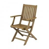 Scaun pentru gradina, cu brate, pliant, TDC-1063A, lemn, natur