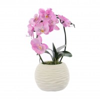 Floare artificiala JYH-0021, orhidee roz, 38 cm