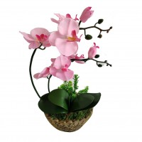 Floare artificiala JYH-3379, orhidee roz, 41 cm