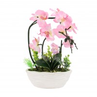 Floare artificiala JYH-3346, orhidee roz, 35 cm