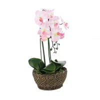 Floare artificiala JYH-3313, orhidee roz, 54 cm