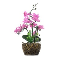 Floare artificiala JYH-3410, orhidee roz, 25 cm