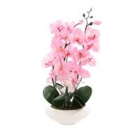 Floare artificiala T-0038, orhidee roz, 55 cm