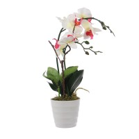 Floare artificiala S-0043, orhidee multicolora, 46 cm