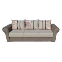 Canapea extensibila 3 locuri Soleto, cu lada, bej + maro, 249 x 100 x 77 cm, 4C