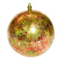 Glob Craciun, auriu + rosu, D 15 cm, Nuovo Tamise