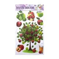 Sticker decorativ perete, bucatarie, model fructe si legume, D1195, 64 x 36 cm
