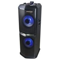 Sistem audio DJ Mixer Rocky Party, Meister Hausgerate HRH-NX4208B, 1 boxa activa, 120 W, Bluetooth, USB, Aux in, radio FM, functie karaoke, efecte DJ Pro, afisaj LED, lumini pentru petrecere RGB, telecomanda